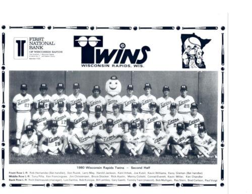 1980 WISCONSIN RAPIDS TWINS 8X10 TEAM PHOTO BASEBALL MINNESOTA KENT HRBEK GAETTI