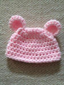 brillantezza del colore aspetto dettagliato scarpe sportive Dettagli su Cappellino NEONATO berretto bambino bebè neonato uncinetto lana