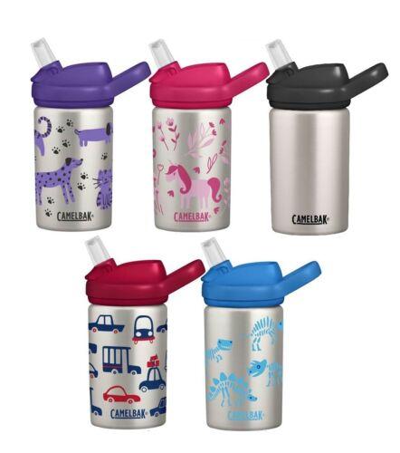 KIDS STAINLESS WATER BOTTLE 400ml NON SPILL BPA-FREE 2020 MODEL CAMELBAK EDDY