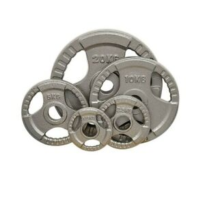 Cast-Iron-Olympic-Weight-Plates-Home-Gym-Weights-Training-Discs-Bar-Lifting-2-034
