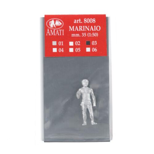 modellismo per scala da 1:56 a 1:44 Amati AM8008-03 Marinaio 35 mm