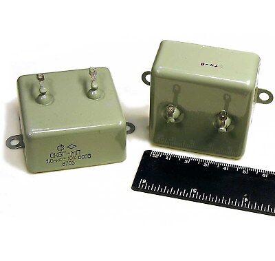 2pcs 1uF 400V 10/% PIO Audio Capacitors KBG-MN Vintage USSR NOS