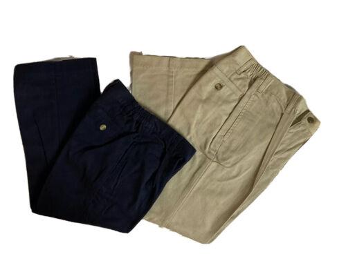 Talbots Kids Boys Pants Blue and Khaki Various Sizes Elastic Sided Waist