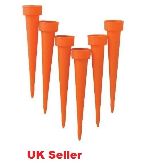 6 x Automatic Watering Spike Irrigation Plant Garden Drip Water FREE POSTAGE