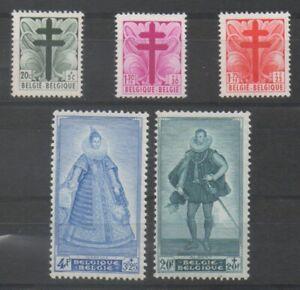 Timbres-de-Belgique-Belgium-ref-COB-N-787-gt-791-Neuf-MNH