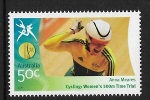 AUSTRALIA-2006-COMMONWEALTH-GAMES-Anna-Meares-Cycling-Women-039-s-500m-1v-MNH
