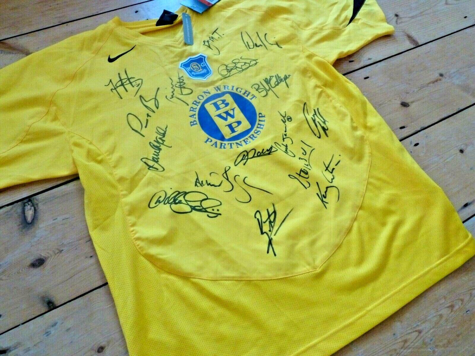 Queen Of The South Maillot de Football Dumfries & Galloway Équipe Signé X 16