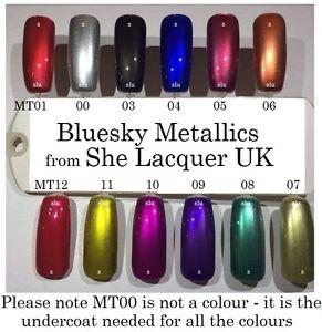 Image Is Loading BLUESKY METALLIC EFFECT UV LED SOAK OFF NAIL