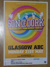 Son Of Dork - Glasgow may 2007 tour concert gig poster