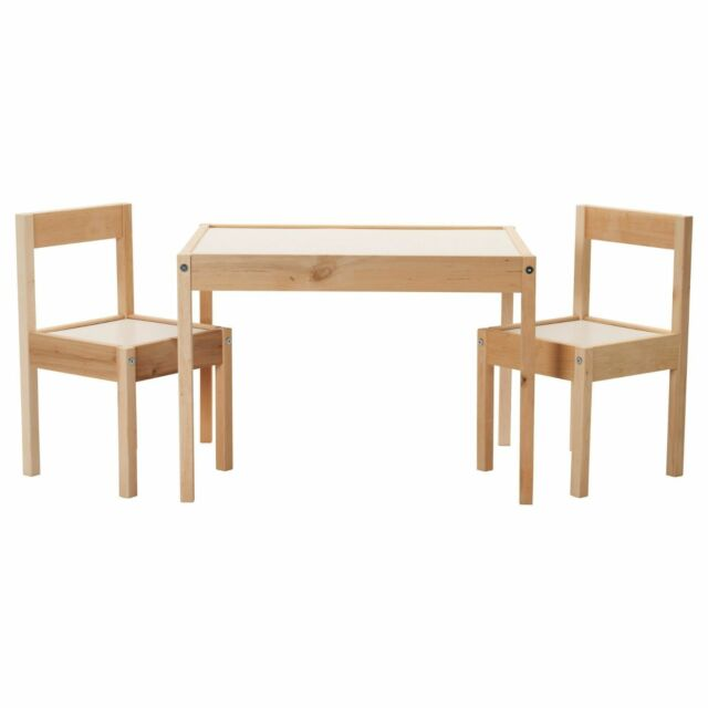 Fabulous Ikea Childrens Table And 2 Chair Set White Pine Latt Kids Gmtry Best Dining Table And Chair Ideas Images Gmtryco