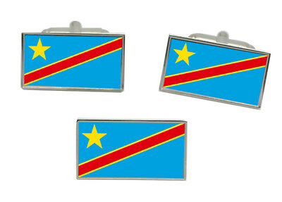 Luxembourg Flag Gold-tone Cufflinks Money Clip Engraved Gift Set