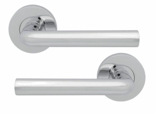 JIGTECH Quick Fit System RIVA Lever on Rose Door Handles Chrome Satin WC Sets