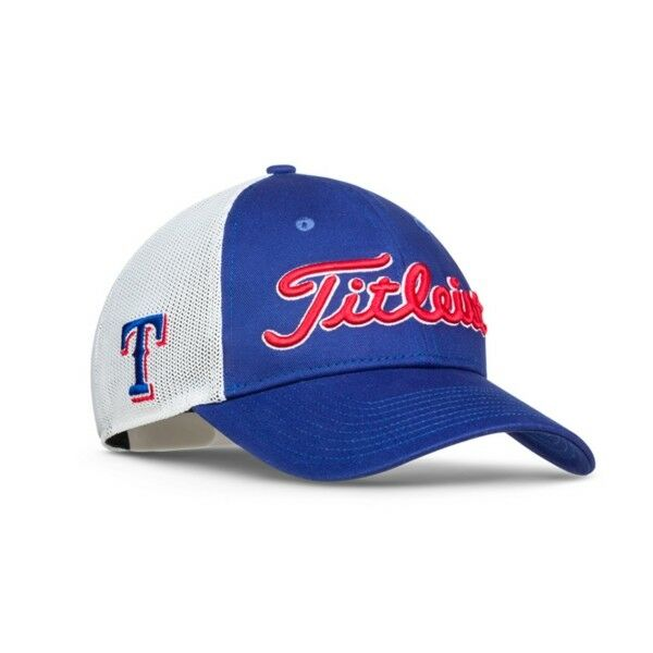 2bb40726fbe130 ... real 2017 titleist golf mlb twill mesh hat adj. texas rangers th7acmlb  tex ebay 4f522