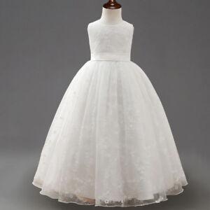 Flower-Girl-Dress-Princess-Formal-Birthday-Pageant-Wedding-Bridesmaid-O101