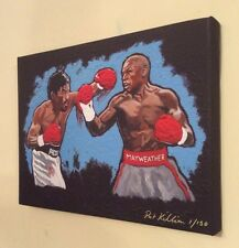 Boxing Pacquiao v Mayweather Limited Edition Canvas of 150 By Patrick J. Killian