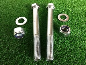 PAIR Tow Bar / Tow Ball Bolts 140mm Long C/w  Nyloc Nuts & Washers  8.8 Tensile