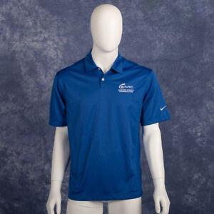 d2978207c Nike Golf Dri-Fit Polo Shirt Blue EMC Logo Men Medium NWT