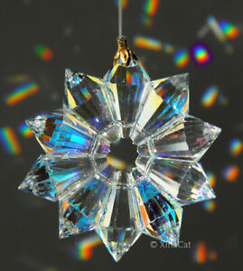 Handcrafted-52mm-Austrian-Crystal-Clear-AB-2-034-Star-Prism-SunCatcher-Ornament