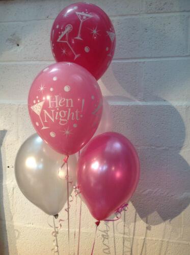 hélium qualité 15x sassy cocktail hen party perlée latex ballons