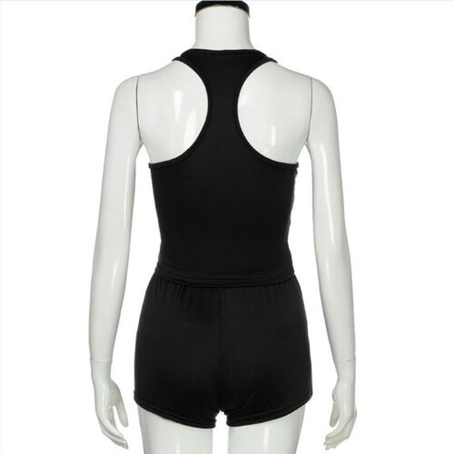 2Pcs Women/'s Solid Tank Top Lounge Drawstring Shorts Pants Sports Set 8C
