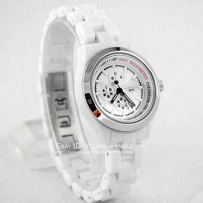 Brandnew Fashion Lady Womens Wrist Watch Quartz White Ceramic Elegant HOUR