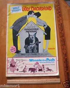1965 disney the ugly dachshund movie theater owner program