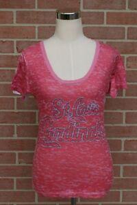 MLB-Baseball-St-Louis-Cardinals-T-Shirt-Women-039-s-White-Red-Size-Small
