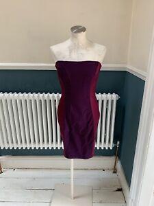 diva catwalk burgundy strapless corset stretch bodycon