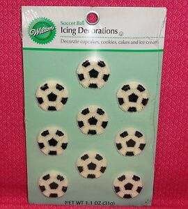 Soccer Icing Decorations Edible Cupcake Toppers Wilton 9