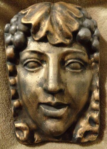 Victorian Lady garden face plaque plastic mold concrete plaster mould