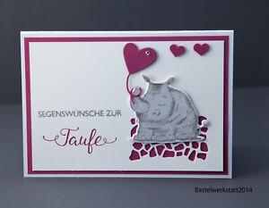 Details Zu Glückwunschkarte Zur Taufe Für Mädchen Handarbeit Grußkarte Karte 3d Taufkarte