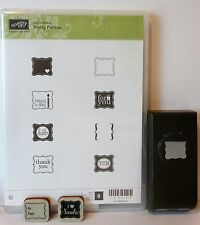 Stampin Up PRETTY PETITES stamps PETITE CURLY LABEL PUNCH WITH 2 BONUS STAMPS