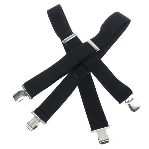 50mm Mens Braces with 4 Clips Extra Wide X-Shape Pants Strong Misc UK FB