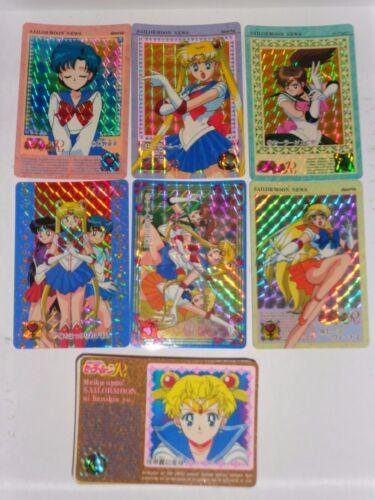 6 PRISMS CARDS FULL SET SAILOR MOON CARDDASS PART 4 REGULAR 36