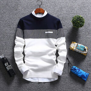 Korean-Fashion-Cardigan-Jacket-Jumper-Men-Knit-Pullover-Coat-Long-Sleeve-Sweater