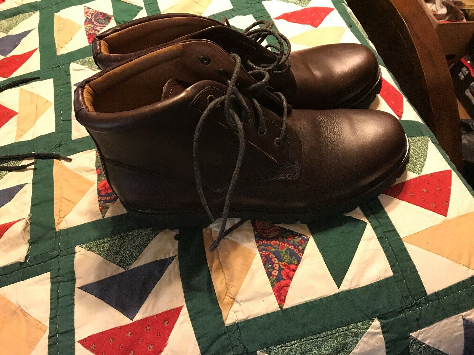 French Shriner Rangeley Mens Ankle Lace Ups Boots Brown Leather 11M  New No Box