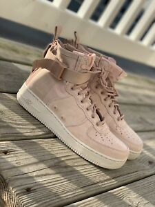 uk availability 1d2b8 c23ff Details about Nike Sf Air Force 1 Mid men Coral Star Dust & Fabric Trainers