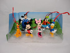 Disney Mickey Mouse Clubhouse Christmas Ornaments 6pc Set Minnie Donald Goofy