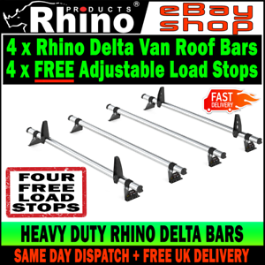 LDV V80 Roof Rack Ladder Bars x4 Rhino Delta 2016-2017-2018-2019 SWB-L1 LOW-H1
