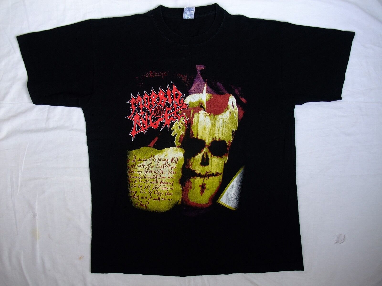 Vtg Morbid Angel t-shirt tour 2005 Masters of Chaos Death Napalm Death Deicide