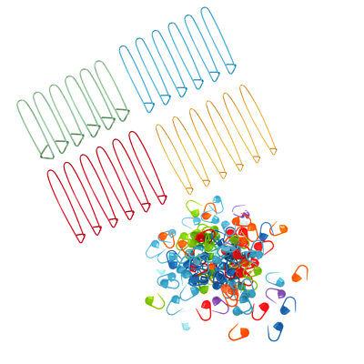 100x Knitting Crochet Locking Stitch Needle Clip Markers Holder Clip Craft Hooks