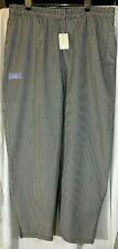 Nwt Joseph Lawrence 3 Pocket Chef Uniform Pants Black White Checked Baggy 2xl