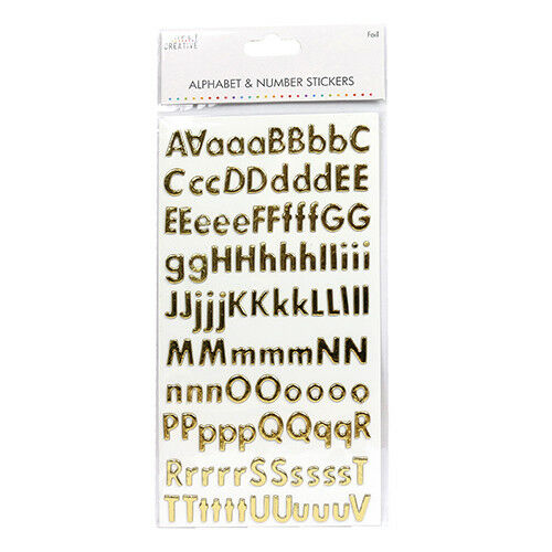 Self Adhesive Stick On Alphabet /& Number Craft Stickers Simply Creative