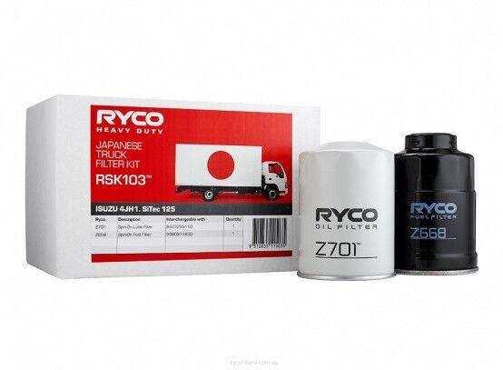 RYCO Oil Fuel Filter Service Kits ISUZU NKR200  NKR NKR77 2003~2007 DIESEL 3.0L