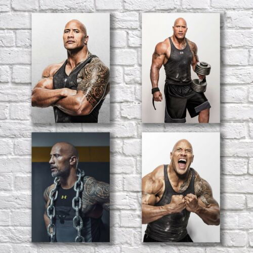 Dwayne Johnson The Rock Poster A4 NEW Set Hot Fitness Body Home Wall Decor