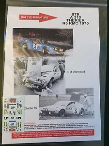 DECALS-1-43-ALPINE-RENAULT-A310-THERIER-RALLYE-MONTE-CARLO-1975-WRC-RALLY