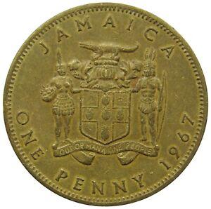 (b76) - Jamaika Jamaica - 1 Penny 1967 - Elizabeth Ii - Vf - Km# 39 FöRderung Der Produktion Von KöRperflüSsigkeit Und Speichel