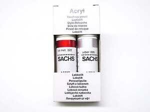 SACHS-Stylo-de-peinture-piece-met-Rouge-322-et-argent-couche-primaire