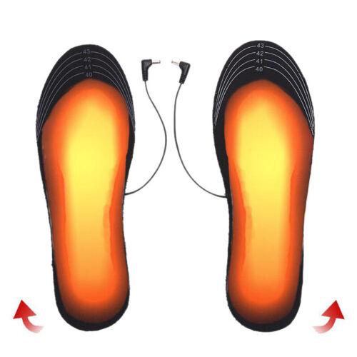 1 Pair USB Heated Shoe Insoles Foot Warming Pad Winter Feet Warmer Sock Pad MaFB
