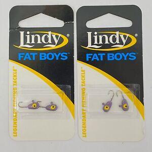 Lindy-Fat-Boys-Ice-Fishing-Jig-LFB-1245-MN-Viking-2-Packs-4-Hooks-New-Freshwater